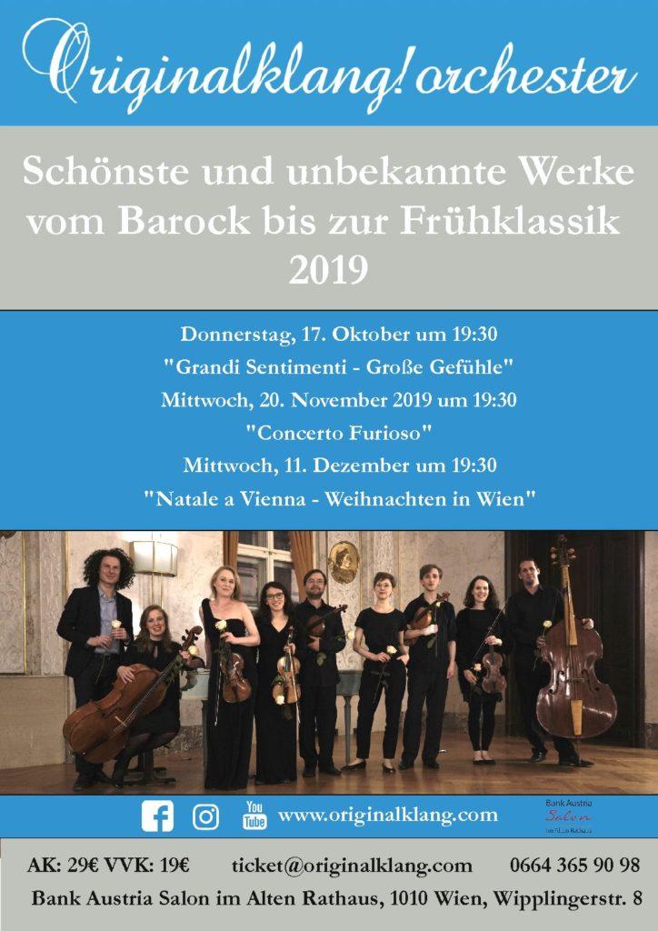 Flyer Originalklang!Orchester